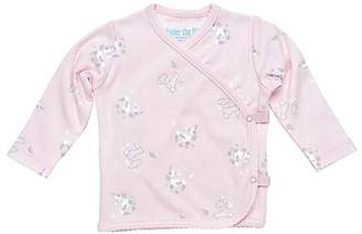 Under the Nile Baby Girl Long Sleeve Side Snap T-Shirt Size 3-6M Pink Bunny Print Organic Cotton