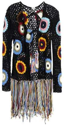 Talitha Collection Fringed Crocheted Cotton Jacket