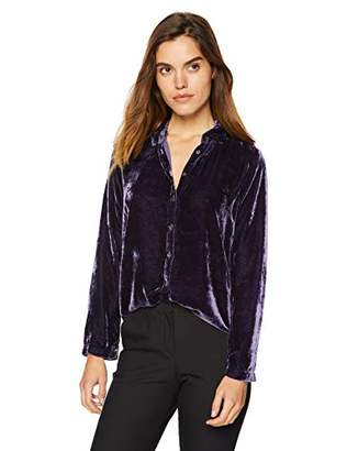 Velvet by Graham & Spencer Women's Jensine Viscose Silk Velvet Blouse