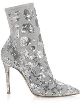 Gianvito Rossi Sequin Leopard Booties
