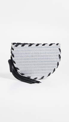 Poolside Bags Small Metallic Raffia Clutch