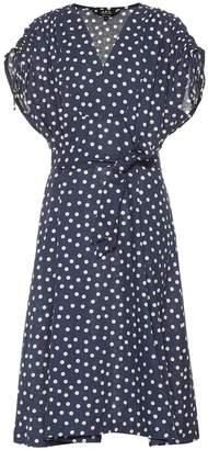 A.P.C. Clare polka-dot cotton-blend dress