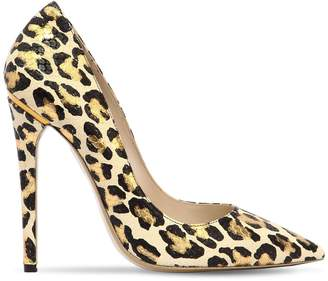 Ernesto Esposito 115mm Leopard Printed Leather Pumps