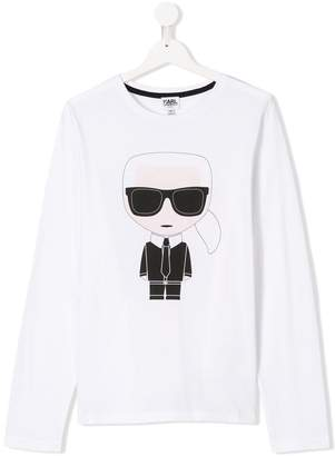 Karl Lagerfeld (カール ラガーフェルド) - Karl Lagerfeld Kids Karl プリント ロングTシャツ