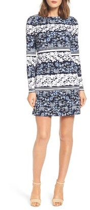 Women's Eliza J Moss Crepe Shift Dress $118 thestylecure.com