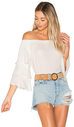 Ella Moss Stella Off Shoulder Top in White $148 thestylecure.com