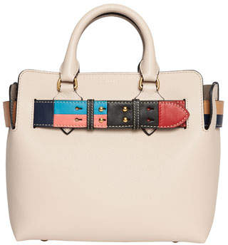 Burberry Marais Small Geometric Belted Leather Satchel Bag