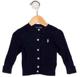 Ralph Lauren Girls' Knit Embroidered Cardigan