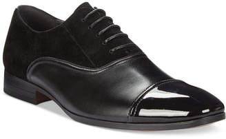 Bar III Men's Gabriel Mixed Patent Cap Toe Oxfords, Only at Macy's $109.99 thestylecure.com