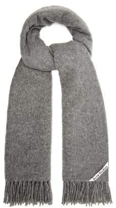 Acne Studios Canada Fringe Trimmed Wool Scarf - Womens - Grey