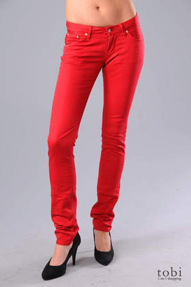 Wesc Eve Straight Leg Jeans in Chili Pepper