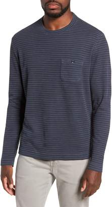 Michael Bastian Stripe Long Sleeve Pocket T-Shirt