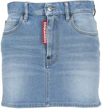DSQUARED2 Classic Denim Mini Skirt