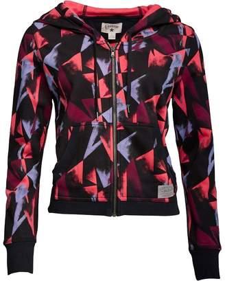 Converse Womens Geo Print Procession Full Zip Hoody Pink Azalea Multi