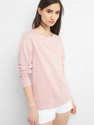 Gap Lace-Up Back Pullover Sweatshirt