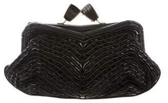 Salvatore Ferragamo Basket Weave Clutch