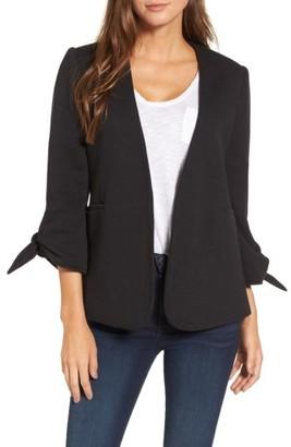 Women's Olivia Moon Tie Sleeve Knit Blazer $108 thestylecure.com