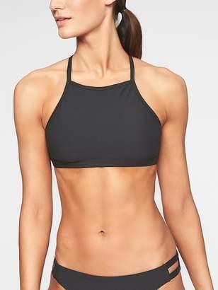 Athleta Malta Rib High Neck Bikini Top