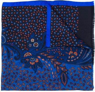 Etro embroidered paisley scarf