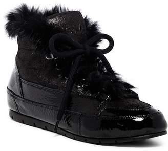 Manas Design Genuine Rabbit Fur Leather Sneaker