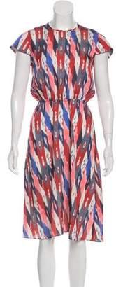 Etoile Isabel Marant Printed Crew Neck Midi Dress