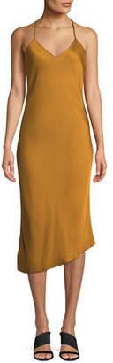 AG Jeans Scarlet V-Neck Asymmetric Slip Dress