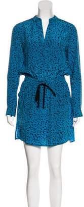Robert Rodriguez Printed Silk Dress