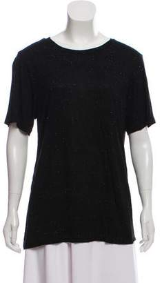 Monrow Patterned Crew Neck T-Shirt w/ Tags