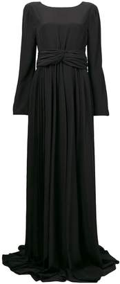 Rochas long-sleeve flared maxi dress