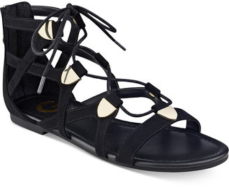 G by GUESS Lewy Gladiator Sandals $49 thestylecure.com