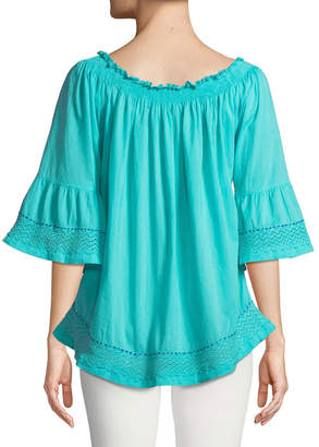 Nordic Pure Riverview Embroidered Voile Blouse