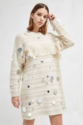 a6624578254 Cream Jumper Dress - ShopStyle UK