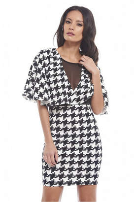 AX Paris Mesh Detailed Top Printed Dress