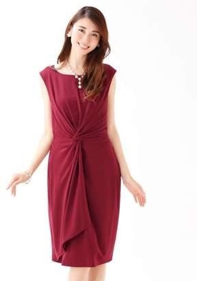 ブルーイースト ≪結婚式 二次会 パーティー≫ウエストツイストデザインドレス