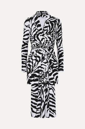 Balenciaga Zebra-print Stretch-satin Dress - Black