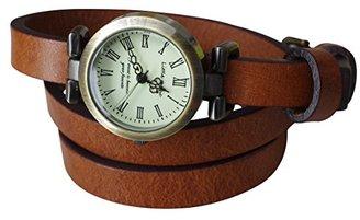 be5f46809b 【リトルマジック】1重巻き イタリアンレザー アンティーク 風 シンプル 腕時計 レディース 時計 本