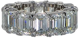 575 Denim Platinum & Diamond Eternity Band Ring Size