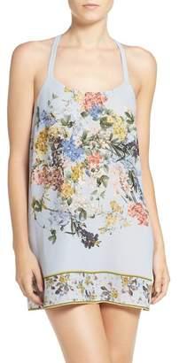 Flora Nikrooz Sleepwear Kayla Floral Print Crepe Chemise