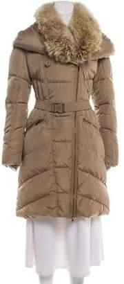 ADD Fur-Trimmed Hooded Coat