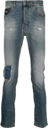 John Richmond acid wash skinny jeans