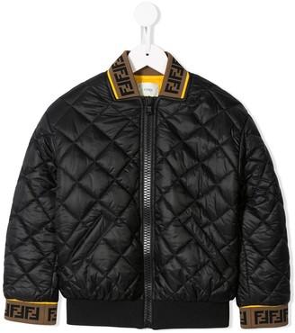 Fendi diamond quilted bomber jacket