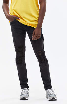 Pacsun Skinny Ripped Bandana Black Jeans