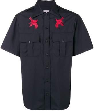 Lanvin contrast chest logo shirt