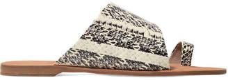 Diane von Furstenberg Brittany Watersnake Sandals - Snake print