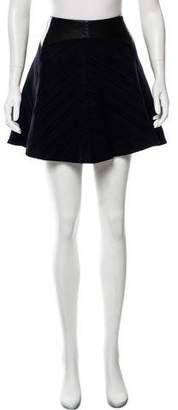 Rag & Bone Leather-Trimmed Mini Skirt
