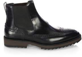 a. testoni Beatles Leather Chelsea Boots
