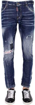 DSQUARED2 16cm Sexy Twist Patch Stretch Denim Jean