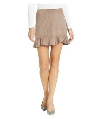 BB Dakota Sagittarius Faux Suede Ruffle Skirt