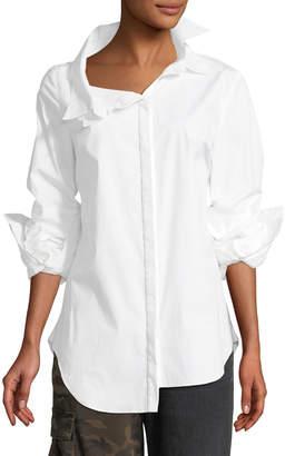 Monse Long-Sleeve Double-Collar Blouse