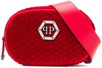 Philipp Plein logo zipped belt bag